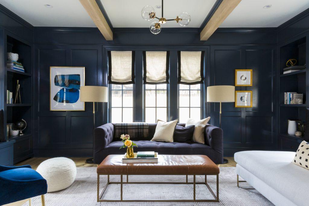 blauwe kleur woonkamer