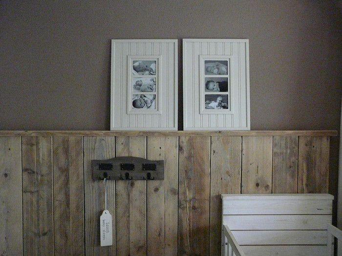 houten lambrisering woonkamer