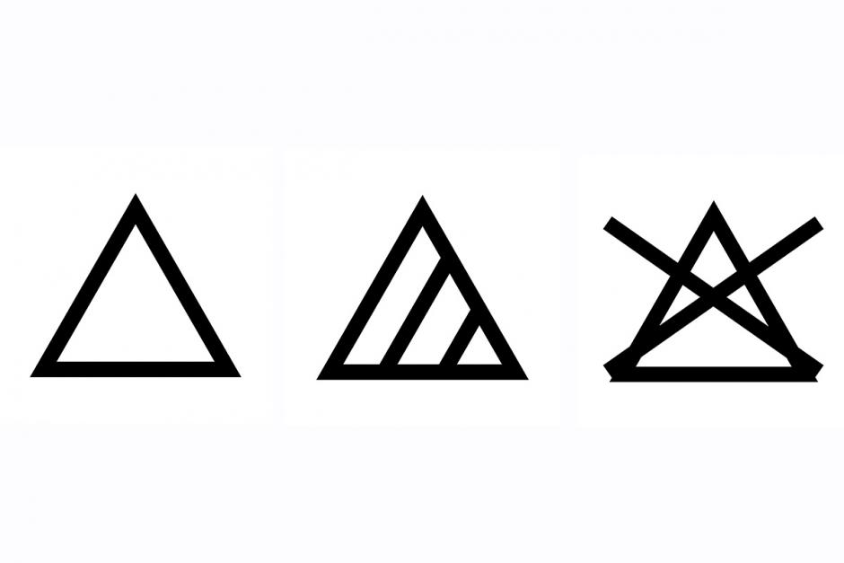 wassymbolen bleken