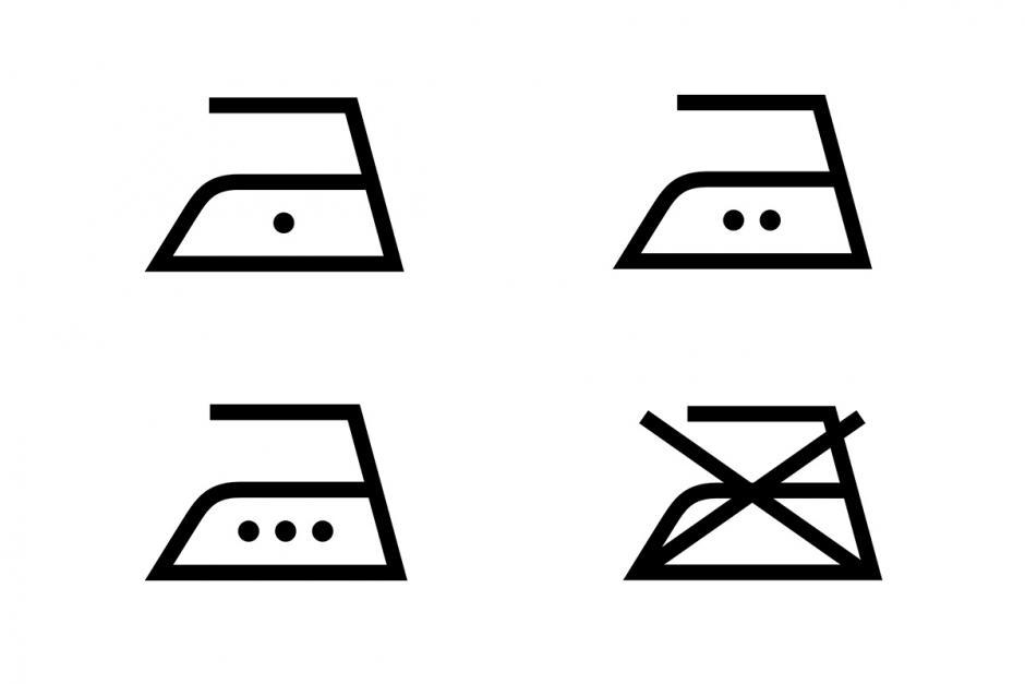 wassymbolen strijken