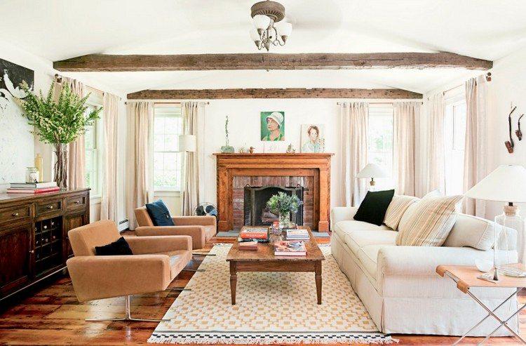 landelijke stijl woonkamer