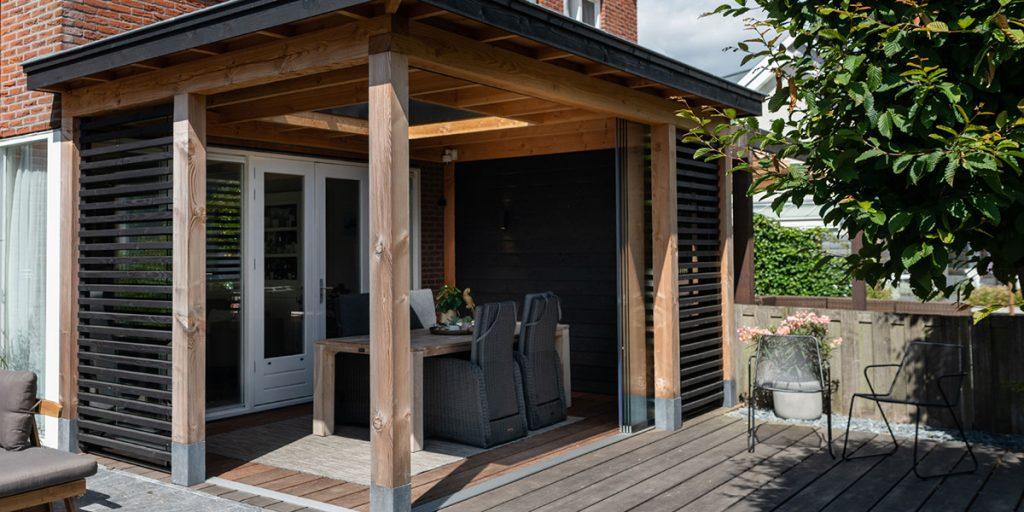 veranda in de tuin