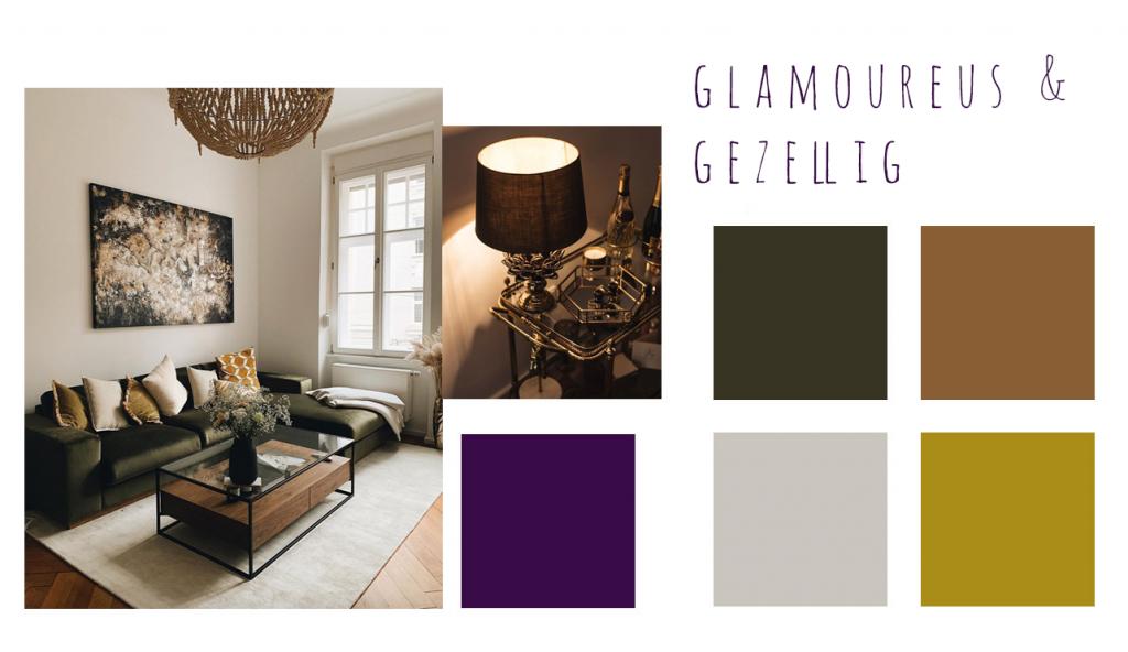 glamoureus gezellig kleuren