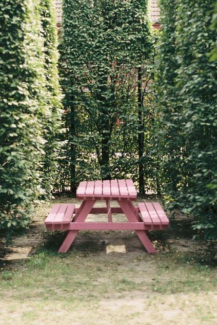 kleurrijke tuinbank