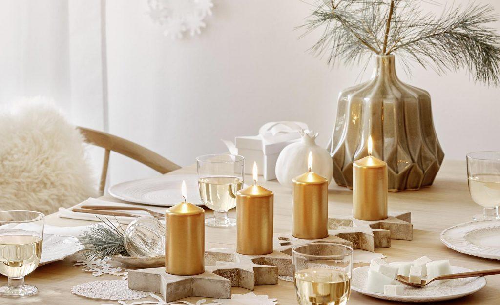 gezellige winter interieur tafel